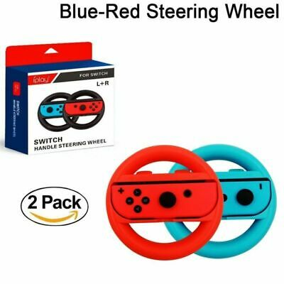 Nintendo Switch Steering Wheel Accessories Kit 2 Pack- Blue & Red UK STOCK