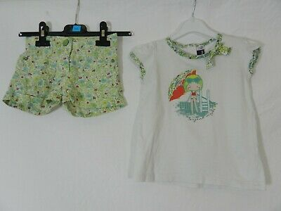 ensemble haut tee-shirt + short fleurs Sergent Major 3 ans tbe (C702)