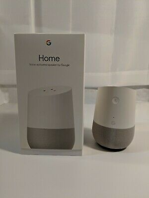 Google Home - White Slate Personal Assistant - Tested Working Model 6B30AYUI3P