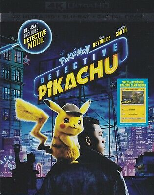 POKEMON DETECTIVE PIKACHU 4K ULTRA HD & BLURAY & DIGITAL SET with Ryan Reynolds