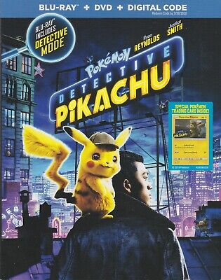 POKEMON DETECTIVE PIKACHU BLURAY & DVD & DIGITAL SET with Ryan Reynolds