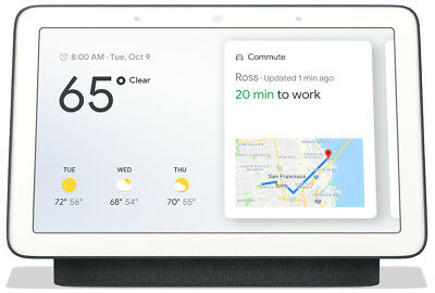 Google Home Hub with Google Assistant - Charcoal - Smart Home Voice Assistant