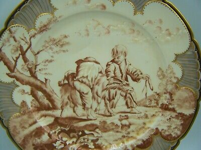 Antique C19th German or French  Paris Porcelain Hand Painted Porcelain Plate.!