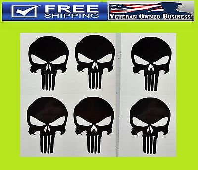 X6 PUNISHER STYLE SKULL VINYL DECAL STICKERS AR15 MAG WELL Hand Gun Sniper USA