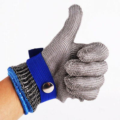 Safety Stainless Steel Cut Proof Stab Resistant Gloves Metal Mesh Butcher Neu
