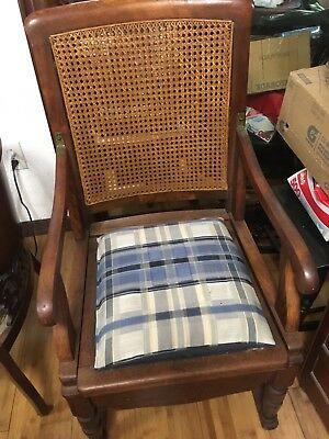 Vintage Wood Toilet Chair Antique Heavy Beautiful Chair