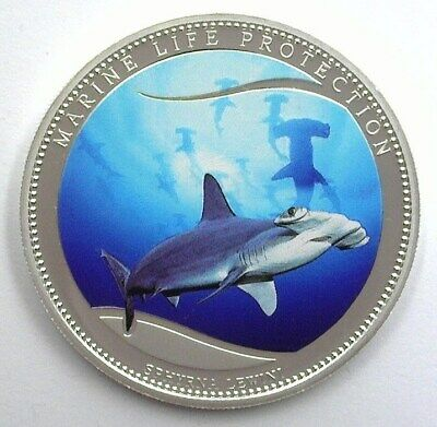 Marine Life Protection 2010 Colorized Dollar Hammerhead Shark Perfect Proof Like