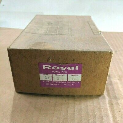 """Pack of 10 - 1"""" x 6"""" Royal Dowel Pins Alloy Steel"""