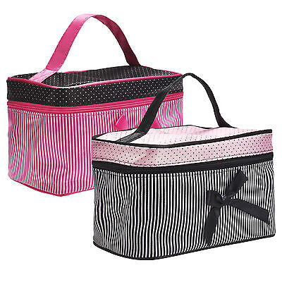 Womens Large Cosmetic Make Up Travel Toiletry Bags Portable Handbag Bag Pouch