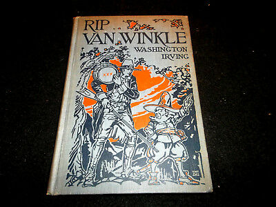 Rip Van Winkle and The Legend Of Sleepy Hollow Hardcover Book 1928 collectible