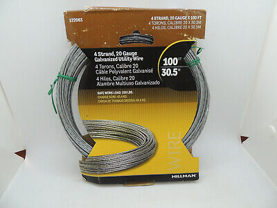 20 Gauge Cable for Antenna Mast Guying 1000/' Box 6//20 Plastic Coated Guy Wire