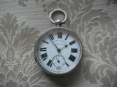 Antique English Lever Solid Silver Chester Hallmarked Pocket Watch