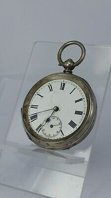 Chester 1892 silver hunter pocket watch for repair or restoration is working
