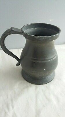 W g Edmonds Dublin Quart Pewter Measuring tankard.