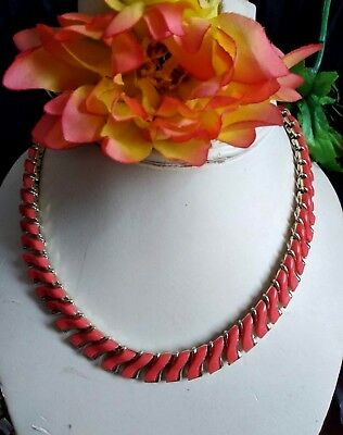 Vintage' C o R o'Collier to Serpentine Lucite Orange Years' 50 Perfect