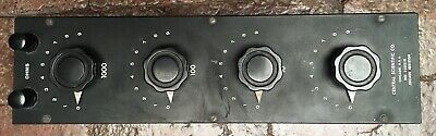 Central Scientific Decade Resistance Box (1, 10, 100, 1000 Ohms) (Tested) 82821B