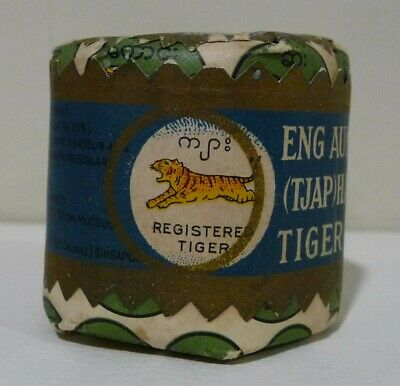 RARE Vintage 1920's ENG AUN TONG TIGER BALM Mint in Sealed Package