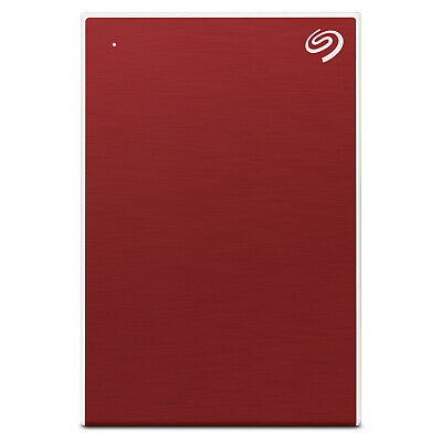 """Seagate 1TB Backup Plus External 2.5"""" Portable Hard Drive HDD - Red"""
