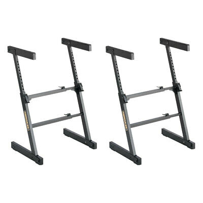 2x Hercules Adjustable Autolock Z Type Music Piano/Keyboard Stand/Holder/Rack BK