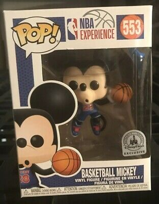 Funko Pop Disney Exclusive Basketball Mickey #553 New In Hand NBA Experience