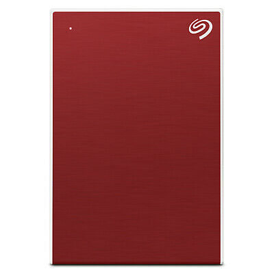 "Seagate 4TB Backup External Plus 2.5"" Portable Hard Drive HDD - Red"
