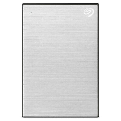"Seagate 4TB Backup External Plus 2.5"" Portable Hard Drive HDD - Silver"
