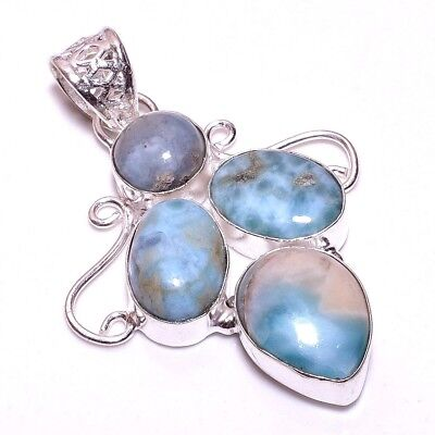 Caribbean Larimar .925 Silver Charming Pendants Jewelry R1933-R1996