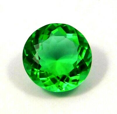 Treated Faceted Emerald Gemstone 14 CT 15mm  NG12002