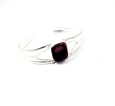 Botswana Agate .925 Silver Plated Handmade Bangle Cuff Jewelry JC10154