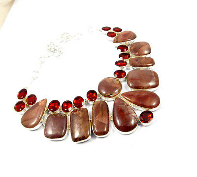 Mookaite .925 Silver Plated Handmade Necklace Jewelry JC10193