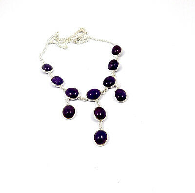 Amethyst Lace .925 Silver Plated Handmade Necklace Jewelry JC10199