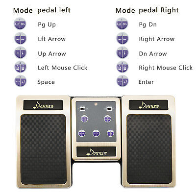 Donner Bluetooth Page Turner Pedal Wireless Rechargeable for Tablets lyrics Read