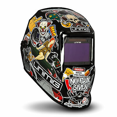 Unimig Welding Helmet Auto Darkening Grind Mode True Colour Lens UMHCHAOS