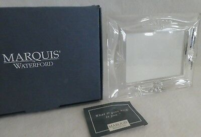 """Waterford Crystal Photo Frame Marquis ROSEVILLE 3 1/2"""" by 5"""" NEW  In Box Germany"""