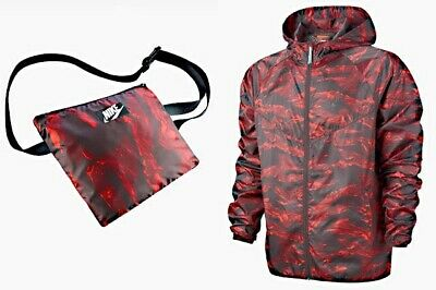 Nike WindRunner Windbreaker Jacket Lightweight Tiger Camo Packable Running XL