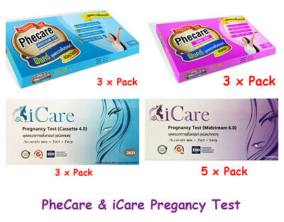 3 x / 5 x PREGNANCY TEST ACCURATE 99.99% - 4 DIFFERENT TESTS PheCare & iCare