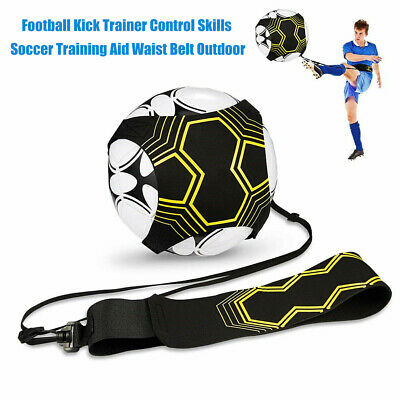 ADJUSTABLE FOOTBALL KICK Trainer Skills Soccer Training Aid Equipment Waist Belt