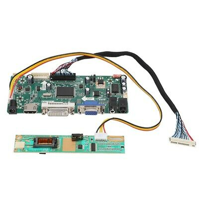 LCD Screen Driver Board +2CH 6bit 30PIN LVDS Cable Support 1080P HDMI DVI VGA US