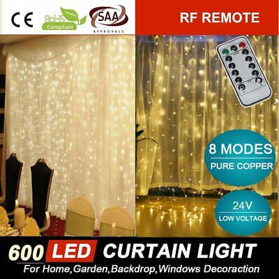 Warm White 100M 500LED Fairy String Lights for Christmas Outdoor Wedding Garden