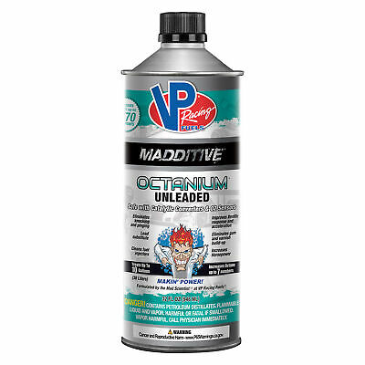 VP Racing Madditive Octanium Unleaded Petrol Fuel Octane Booster 1 Quart