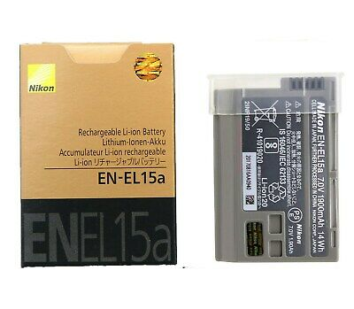New Original Nikon EN-EL15a Battery for Nikon D7500 D7100 D7200 D7000 D850 D750