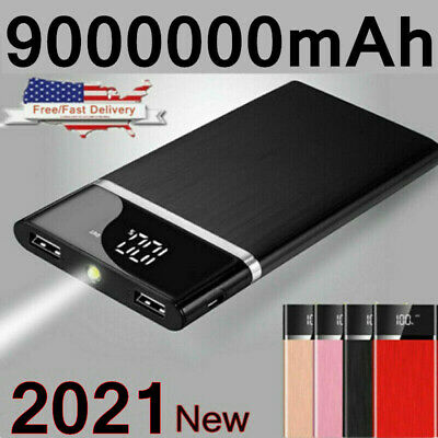 500000mAh Power Bank 2 USB Fast Charging External Battery Pack Portable Charger