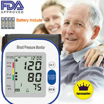 Auto Digital Arm Blood Pressure Monitor BP Cuff Home Test Pulse Meter Device