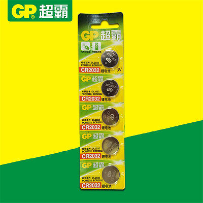 5pcs/lot  GP CR2032 3V  Coin Cell Battery DL2032 2032 Wholesale