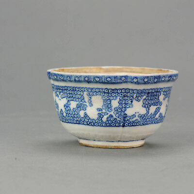 Lovely Chinese 18th C Qianlong Revers decorated Blue and White Butter tu...