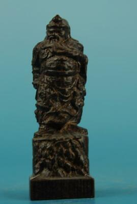 Chinese eaglewood hand-carved Guan Yu Buddha statue a02