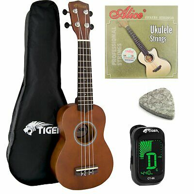 Natural Soprano Ukulele Kit - Beginners Pack