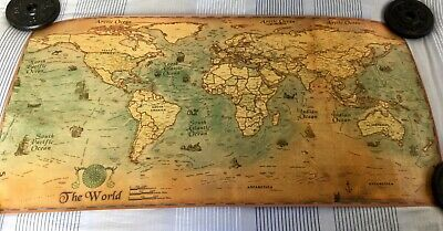 100 X 50cm DIY WORLD MAP VINTAGE ANTIQUE STYLE GIANT POSTER WALL CHART PICTURE
