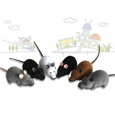 Pet Cat Dog Remote Control Toy Gifts Fake Mice Mouse Prank Rat Mock Wireless RC