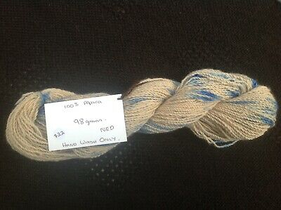 100% Alpaca Woolen Yarn Skeins grown and processed in Australia